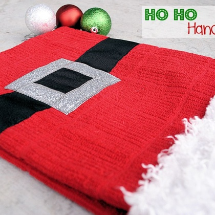 Santa Suit Christmas Hand Towels
