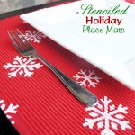 Stenciled Holiday Placemats