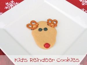 Kids Reindeer Christmas Cookies