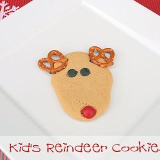 Christmas Reindeer Cookies for Kids
