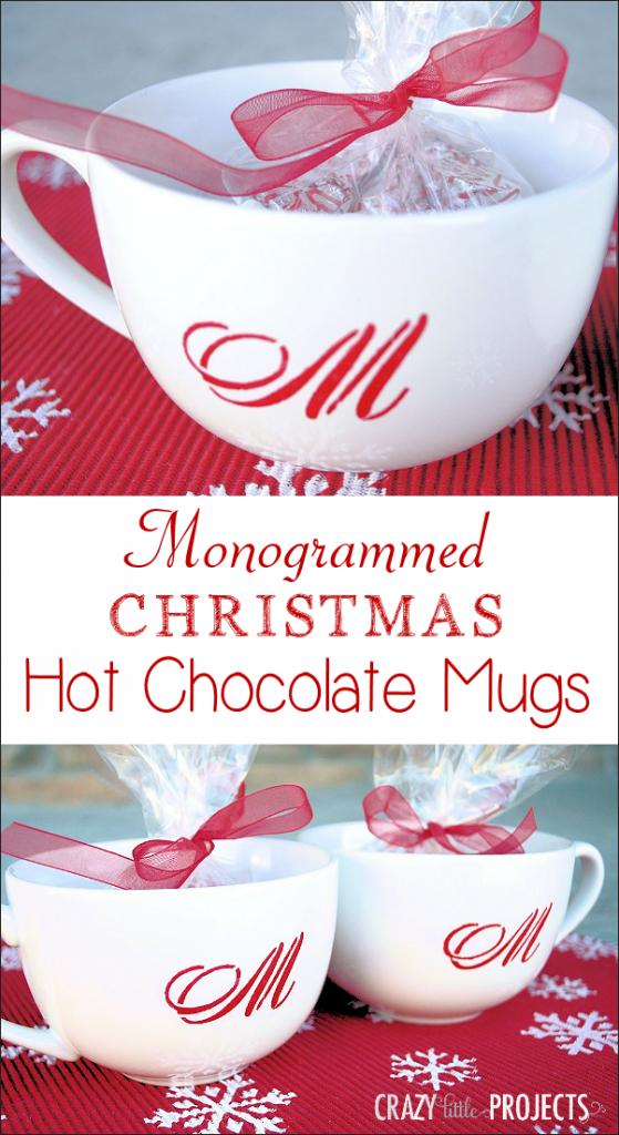 Monogrammed Christmas Mugs