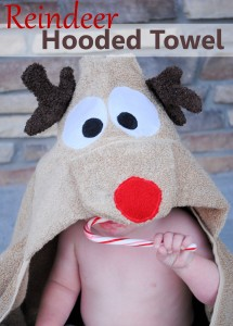 How to make a reindeer hooded towel-pattern and tutorial