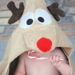 Reindeer hooded towel tutorial and pattern