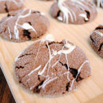 Rolo Cookies (Rolo is inside!) drizzled in white chocolate