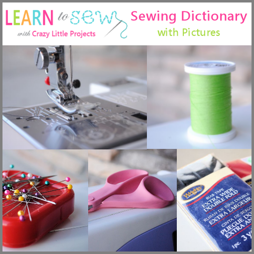 Sewing terms defined