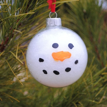 Snowy Snowman Ornament Craft for Kids