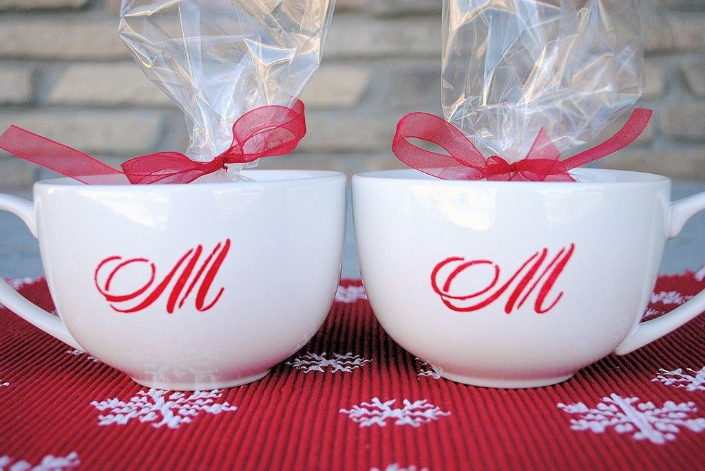 Monogrammed Hot Chocolate Mugs