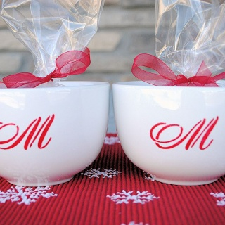 Monogrammed Christmas Hot Chocolate Mugs