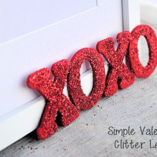 Valentine's Glitter Letters