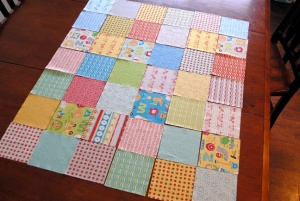 Sewing a baby quilt