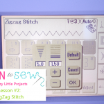 Zigzag stitch in sewing