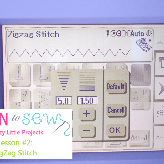 Learn to Sew Series Lesson #2: ZigZag Stitch