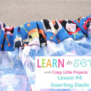 Learn to Sew Lesson #4: How to Insert Elastic