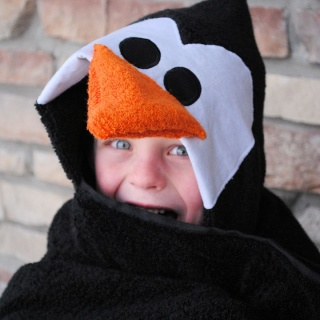 Penguin Hooded Towel Tutorial
