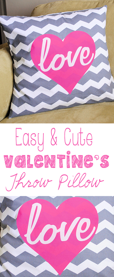 Easy to Make Valentine's Pillow