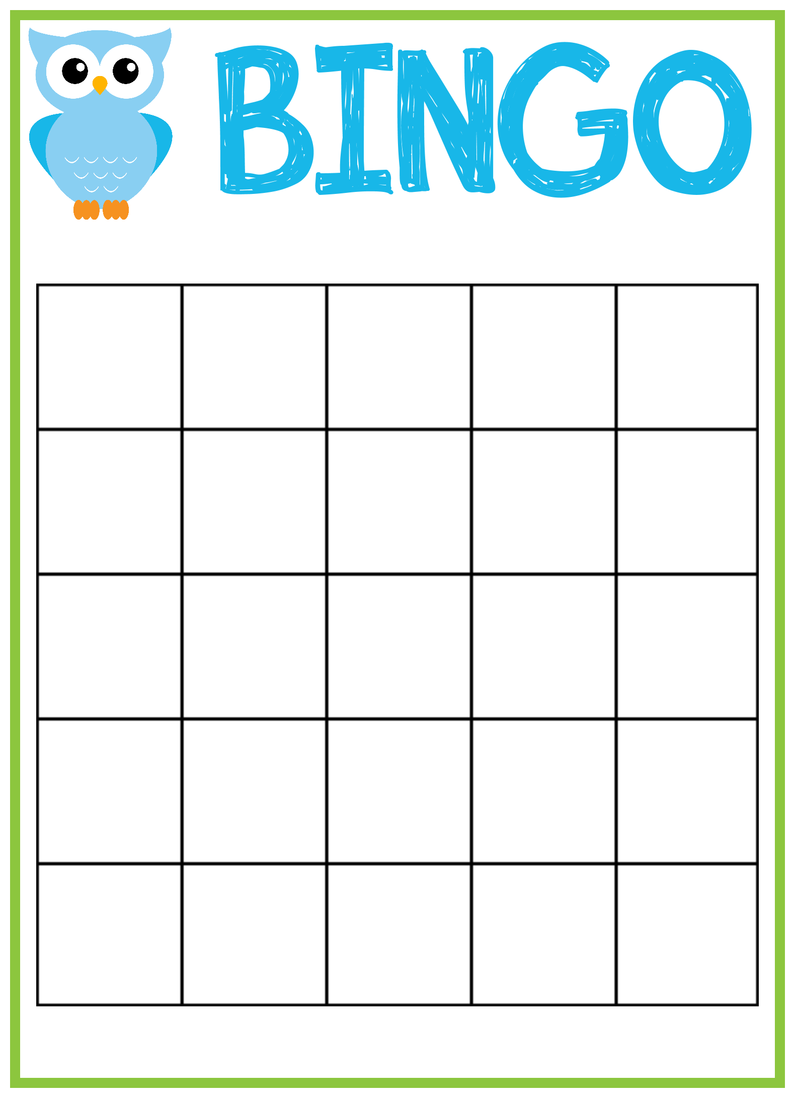 Baby shower bingo cards uk | Transamerican Auto Parts