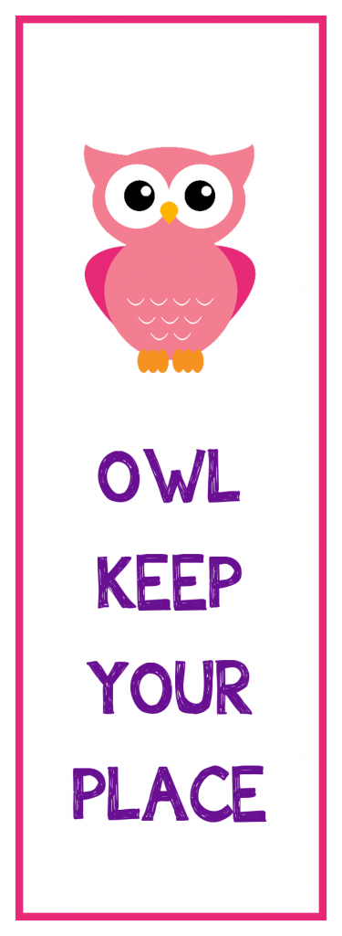 Owl Keep Your Place Bookmarks