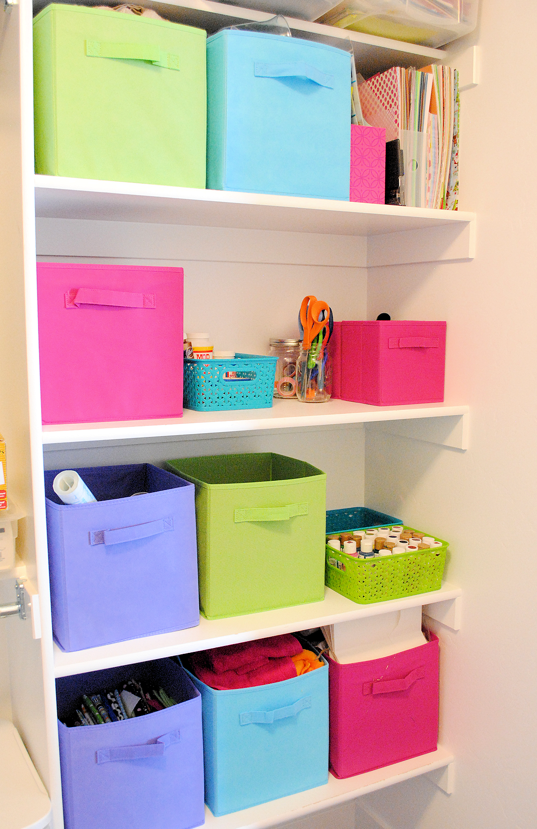 In a Small Space Organizing Craft Supplies