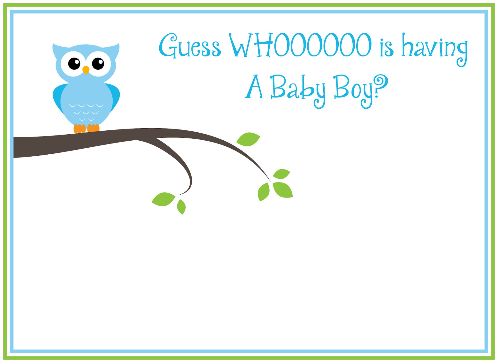 Free Printable Owl Baby Shower Invitations Crazy Little Projects