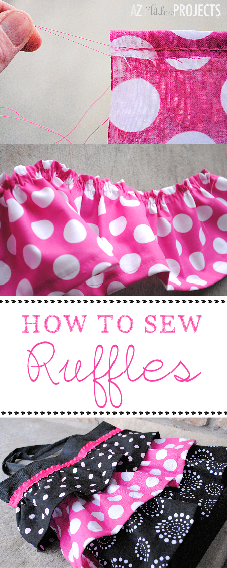 Step by Step instructions on how to sew ruffles