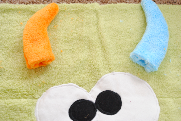Make a Monster hooded towel