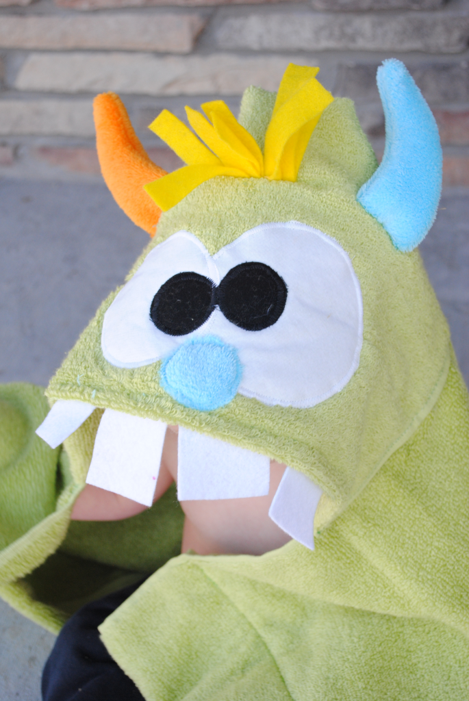How to Sew a Monster Hooded Towel