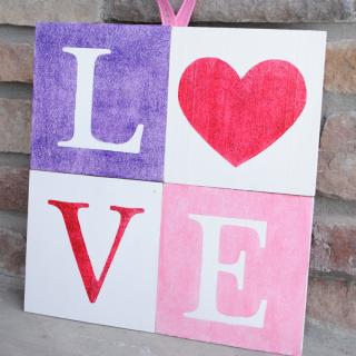 Love Blocks-Valentine's Decor