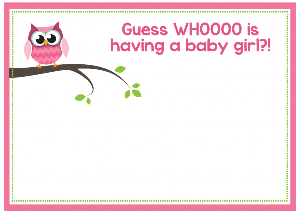 Charming Girl Owl Baby Shower Invitation