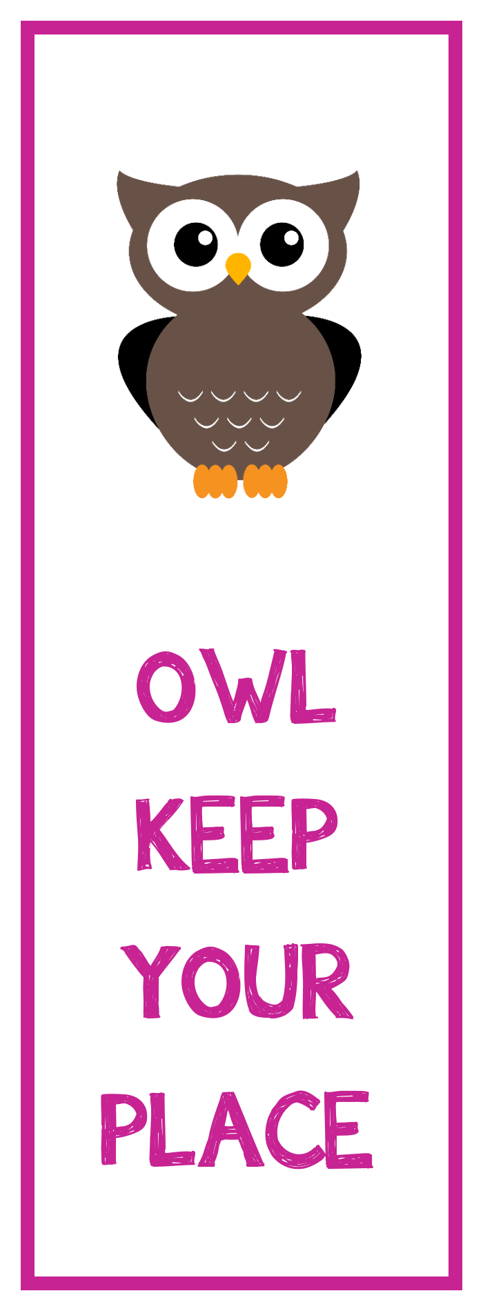 Printable Owl Bookmarks