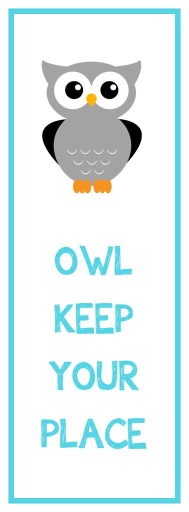 Owl Bookmarks Printable