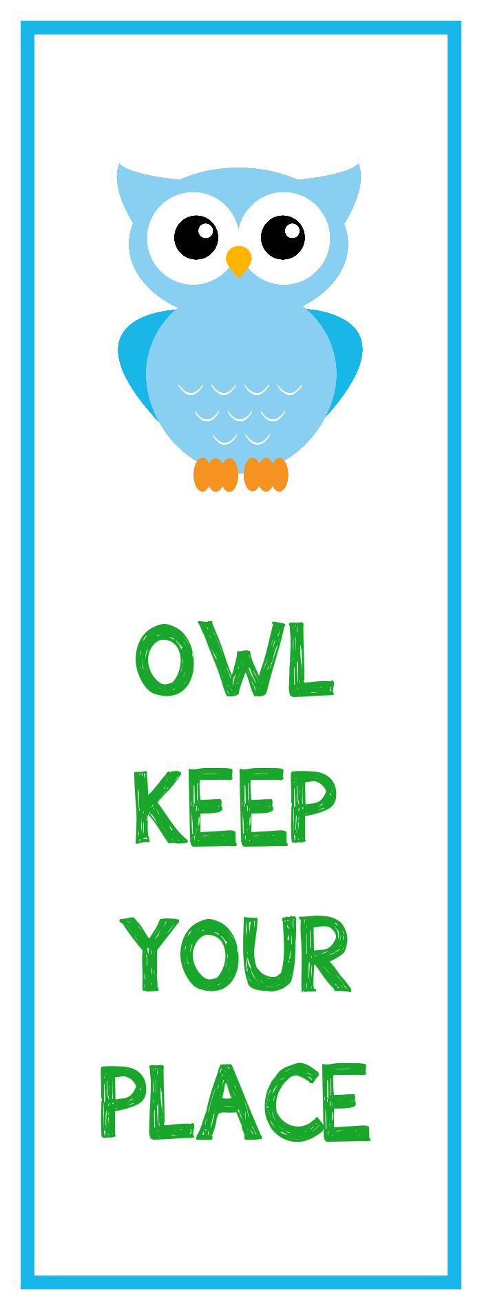 Owl Bookmark Printable