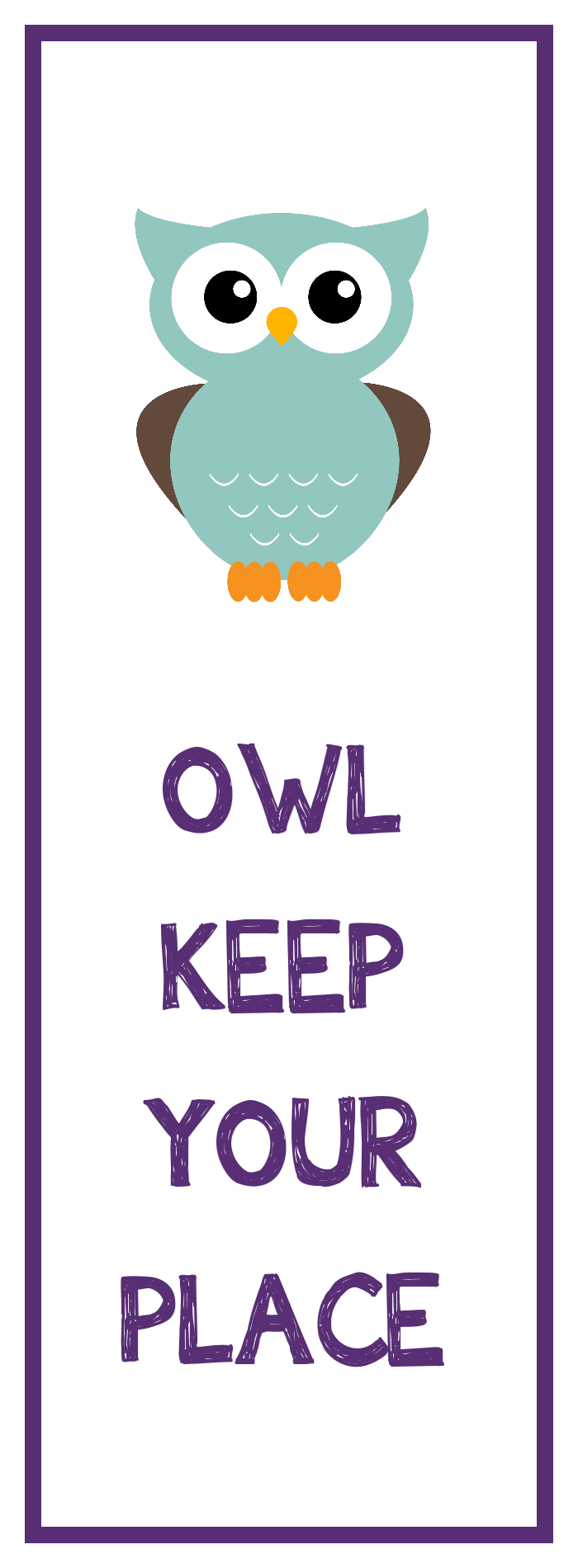 owl bookmark printable - Pictures To Print For Free