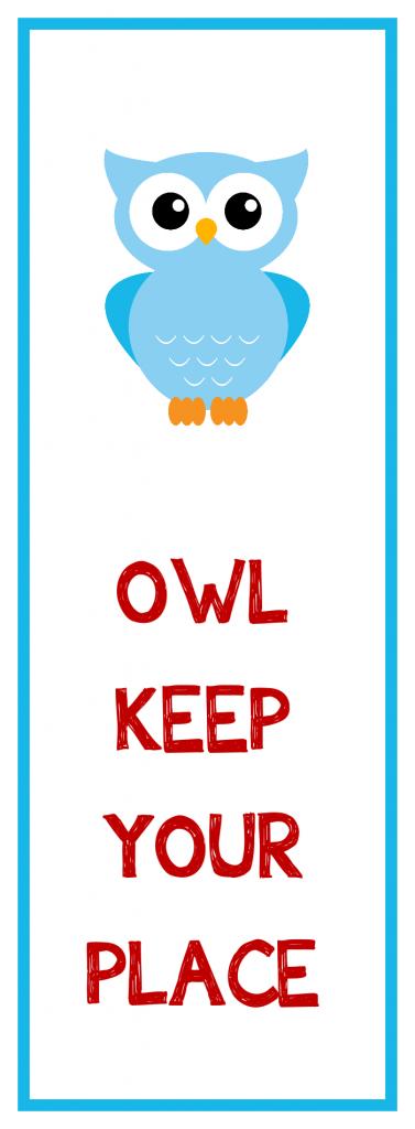 Kid's Owl Bookmark