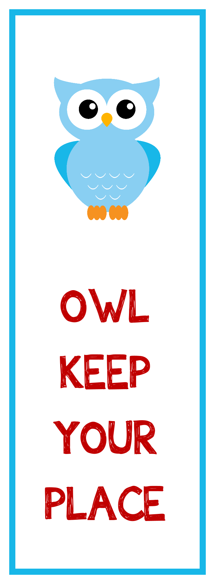 owl party favors free printable bookmark kids owl bookmark - Cool Pictures To Print