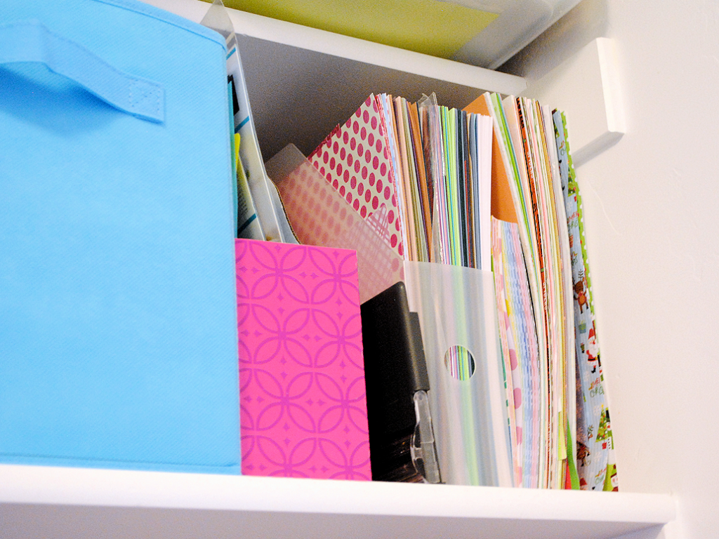 Organizing scrapbook paper