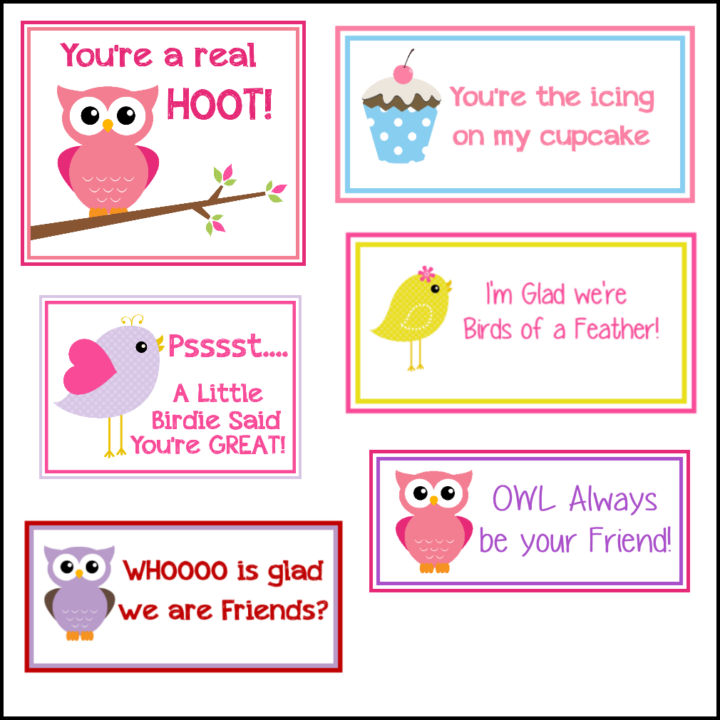 bird valentines - Children Printables