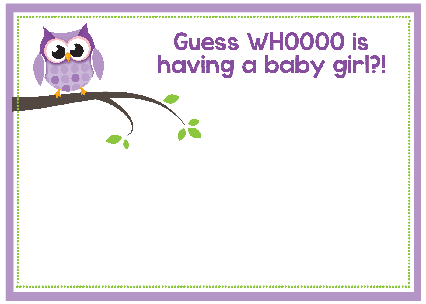 Free Printable Owl Baby Shower Invitations For Girls