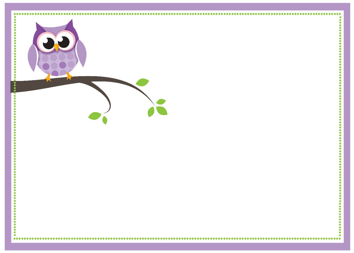 Purple Owl Baby Shower Printable Pack - Crazy Little Projects