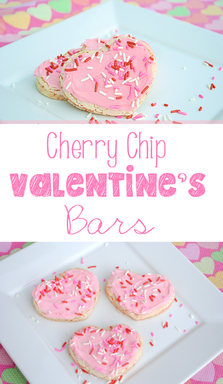 Quick and Easy Cherry Chip Valentine's Bars