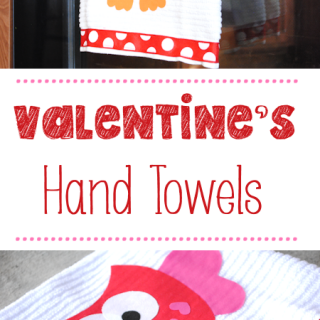 Valentine's Hand Towels