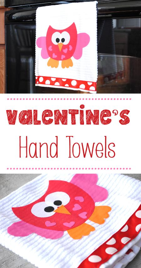 Valentine's Hand Towels
