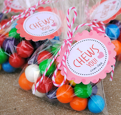 I *Chews* You Valentine Idea & Printable
