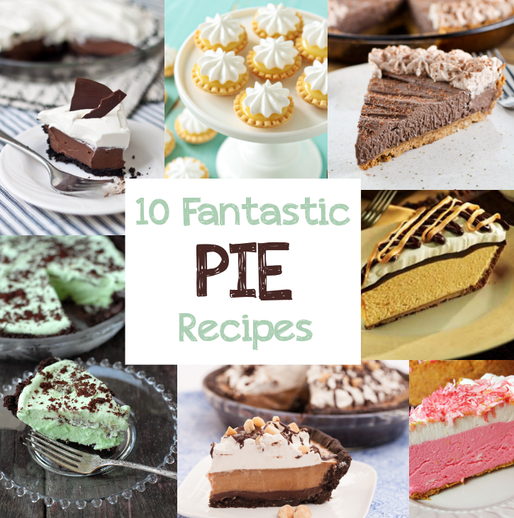 10 Fantastic Pie Recipes from CrazyLittleProjects.com #pie #recpies
