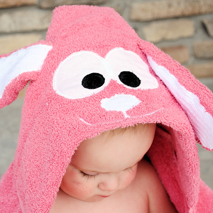 Bunny Hooded Towel Tutorial