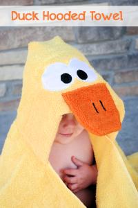 Duck Hooded Towel Tutorial