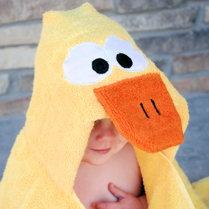 Duck Hooded Towel Tutorial