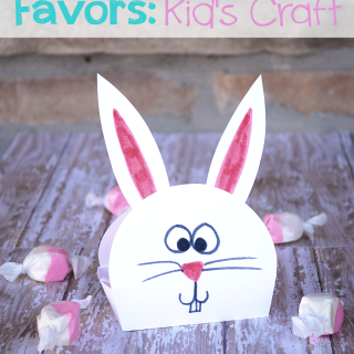Easter Bunny Favors: Kid's Craft