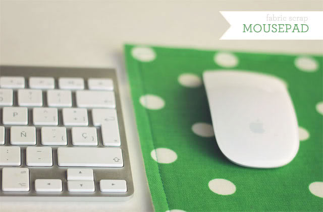 Fabric Scrap Mouse Pad