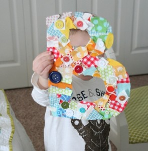 Fabric Scrap Letters for Kids