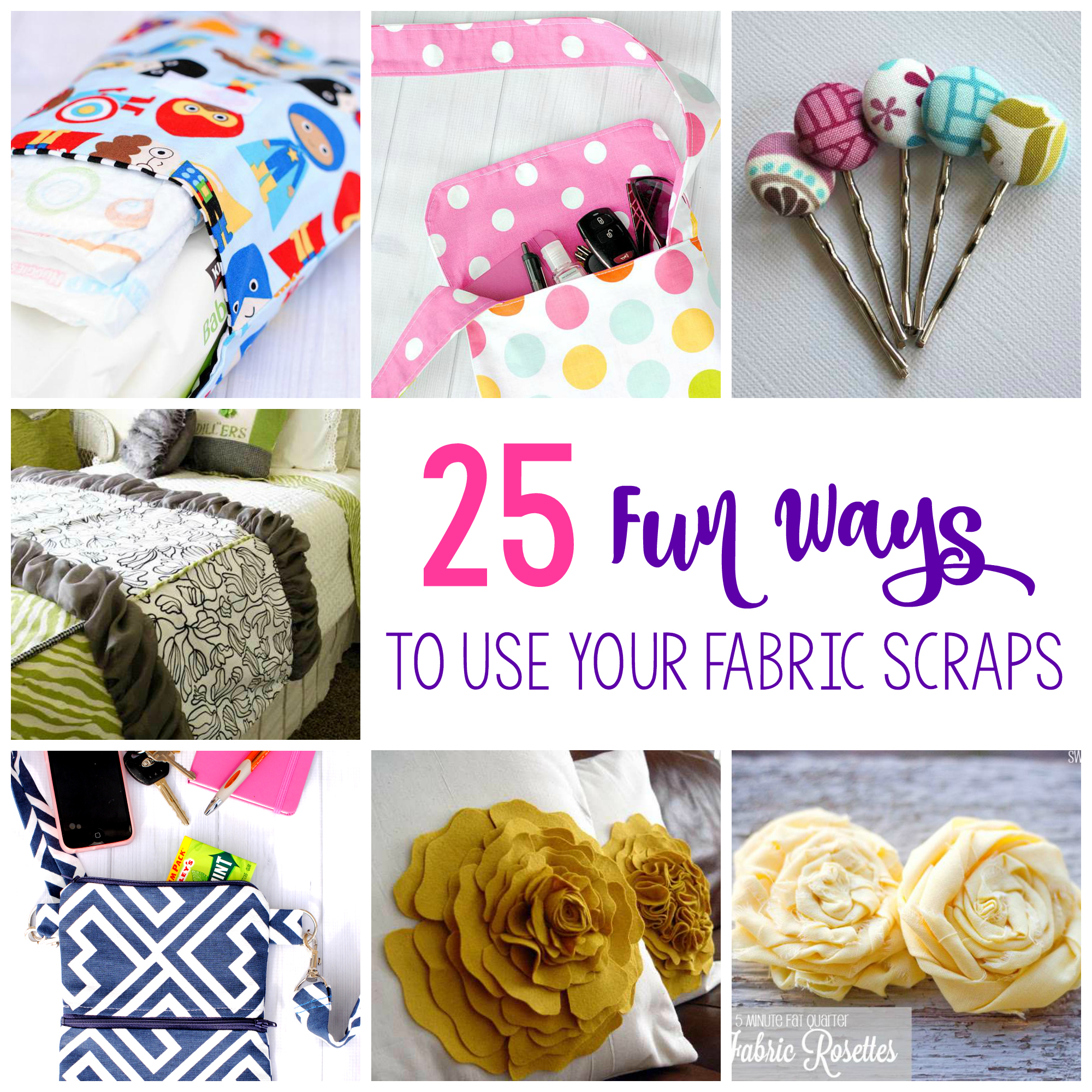 25 things to do with fabric scraps scrap fabric projects easy ways to use fabric scraps solutioingenieria Images